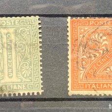 Sellos: ITALIA. MITCHEL Nº 12/13 AÑOS 1863/77 USADO. Lote 182805326