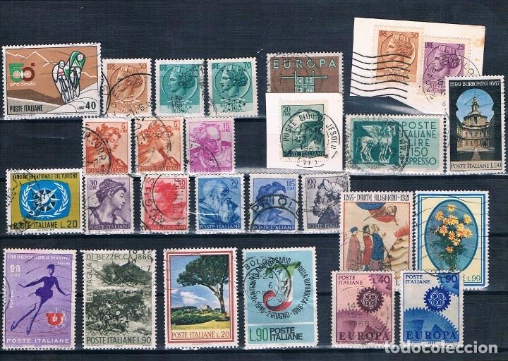 Sellos: SELLOS USADOS DE ITALIA VARIOS DE 1955 A 1975 TRES FOTOGRAFÍAS BONITOS MATASELLOS - Foto 2 - 183033507