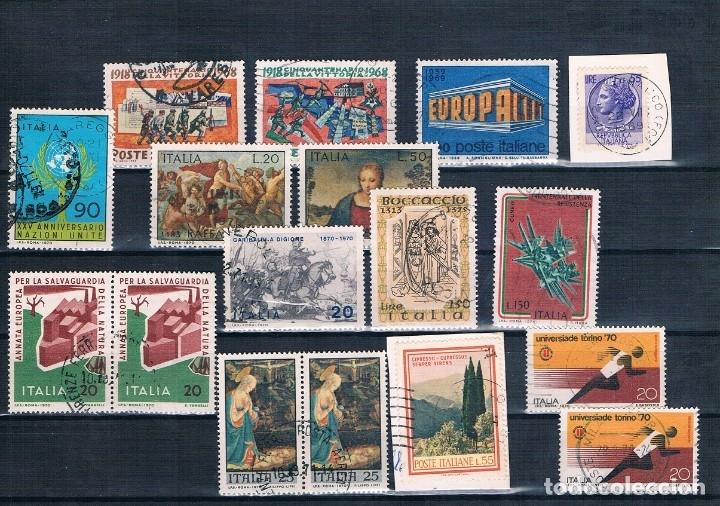 Sellos: SELLOS USADOS DE ITALIA VARIOS DE 1955 A 1975 TRES FOTOGRAFÍAS BONITOS MATASELLOS - Foto 3 - 183033507