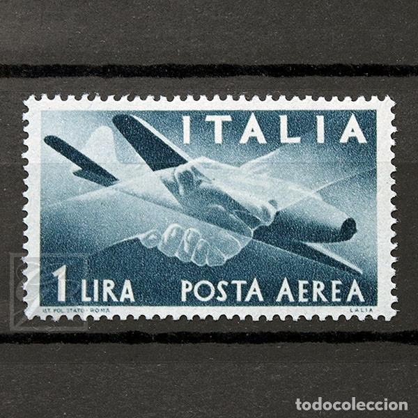 ITALIA 1945 ~ CORREO AÉREO: AVIÓN CAPRONI-CAMPIN 1L ~ SELLO NUEVO MNH BUENO (Sellos - Extranjero - Europa - Italia)