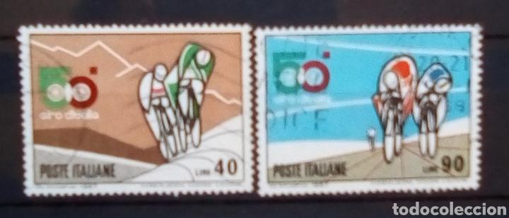 ITALIA CICLISMO ANIVERSARIO DEL GIRO SERIE DE SELLOS USADOS (Sellos - Extranjero - Europa - Italia)