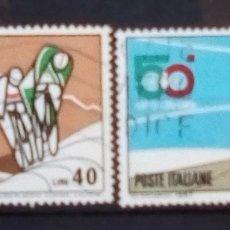 Sellos: ITALIA CICLISMO ANIVERSARIO DEL GIRO SERIE DE SELLOS USADOS. Lote 183315021