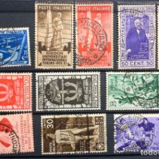 Sellos: 2 FICHAS SELLOS PRIMER CENTENARIO ITALIA. Lote 184286491
