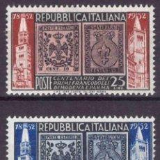 Sellos: ITALIA 1952 IVERT 627/8 *** CENTENARIO DE LOS SELLOS DE MODENA Y PARMA. Lote 185985112