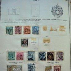 Sellos: GRAN COLECCIÓN DE 128 SELLOS DE ITALIA, AÑOS 1862, 1867, 1879, 1891, 1906.... Lote 186051180