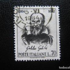 Sellos: -ITALIA 1964, GALILEO GALILEI, YVERT 902. Lote 186287218
