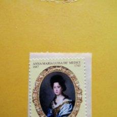 Sellos: ITALIA - AÑO 2013 - 270 ANIVERSARIO DE LA MUERTE DE ANNA MARIA LUISA DE´MEDICI - 3,60 EUROS. Lote 188425703