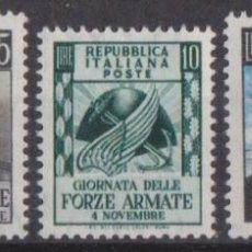 Sellos: ITALIA 1952 IVERT 637/9 *** DÍA DEL EJÉRCITO. Lote 188575703