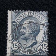 Sellos: POSTE ITALIA, 15 CENT, FRANCOBOLLO, AÑO 1919.. Lote 189696481