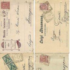 Sellos: 4 - ENTERO POSTALES DE ITALIA - CARTAS COMERCIALES - AÑOS 1899 - 1902 - VER FOTOS - INTERESANTES DE . Lote 189783391