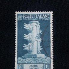 Sellos: POSTE ITALIA, 10 CENT, MARE PACAVI, AÑO 1937.. Lote 189893470