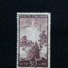 Sellos: POSTE ITALIA, 50 LIRE, LA DEMOCRACIA , AÑO 1945.. Lote 189895572