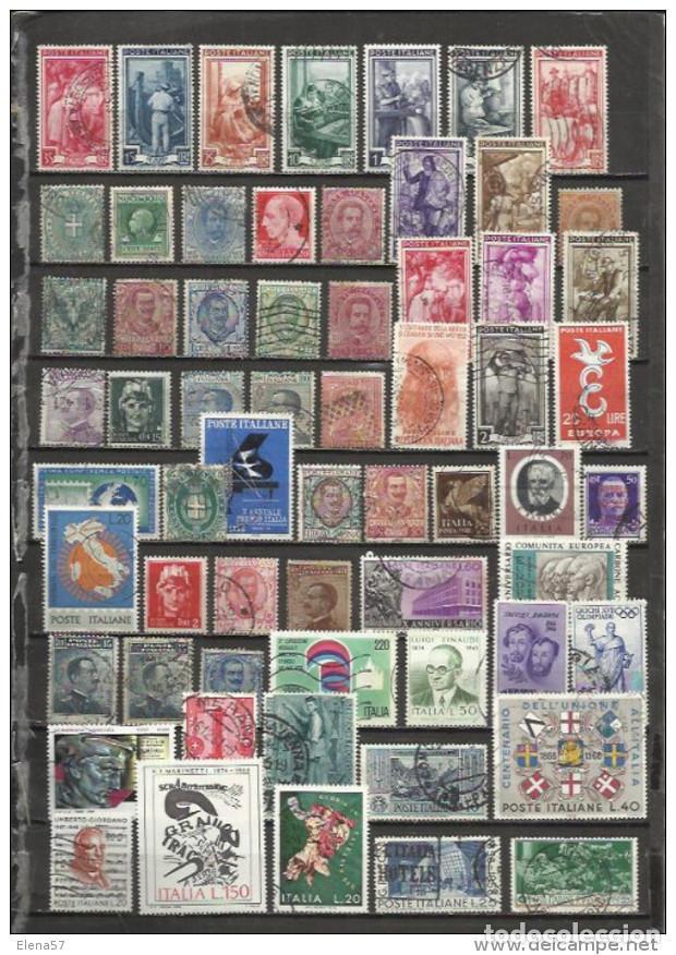 Q904-LOTE DE SELLOS ITALIA SIN TASAR,1950/2015 APROXIMADAMENTE.VEAN.SIN REPETIDO (Sellos - Extranjero - Europa - Italia)
