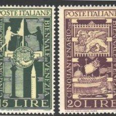 Sellos: ITALIA, 1949 YVERT Nº 532 / 535 /**/, SIN FIJASELLOS. Lote 190780040
