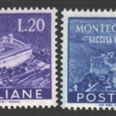 Sellos: ITALIA, 1951 YVERT Nº 602 / 603 /**/, SIN FIJASELLOS. Lote 190782138