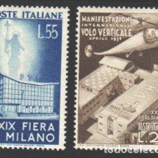Sellos: ITALIA, 1951 YVERT Nº 595 / 596 /**/, SIN FIJASELLOS. Lote 190782276