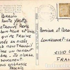 Sellos: ITALIA & CIRCULADO, ROMA DE NOCHE, BASÍLICA DE SAN PABLO, GENLIS FRANCIA 1978 (7745). Lote 191296702