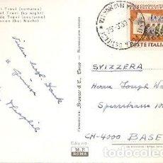 Sellos: ITALIA & CIRCULADO, ROMA, LA FUENTE DE TREVI EN LA NOCHE, BASILEA SUIZA 1969 (511). Lote 191360483