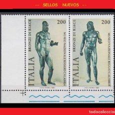 Sellos: LOTE SELLOS NUEVOS - ITALIA - ESCULTURA - ESTATUAS DE BRONCE - AHORRA GASTOS COMPRA MAS SELLOS. Lote 191649351