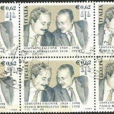 Sellos: ITALIA 2002 - 0,62 EURO - IT 2846 - LOTE DE 6 SELLOS USADOS. Lote 193111143