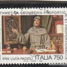 Sellos: ITALIA 1994 - YVERT NRO. 2052 - USADO. Lote 194343878