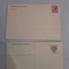 Sellos: ITALIA CARTA POSTAL 40 LIRAS Y 120 LIRAS REPUBLICA ITALIANA. Lote 194501787