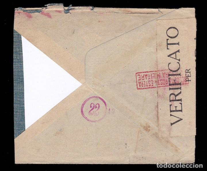 Sellos: *** CARTA ITALIA-BARCELONA 1938. CENSURA MILITAR BOLOGNA (22) BOLONIA *** - Foto 2 - 195083892
