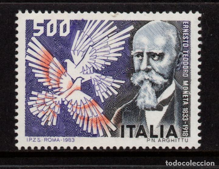 ITALIA 1576** - AÑO 1983 -150º ANIV. DEL NACIMIENTO DE ERNESTO MONETA - PREMIO NOBEL DE LA PAZ 1907 (Sellos - Extranjero - Europa - Italia)