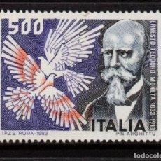 Sellos: ITALIA 1576** - AÑO 1983 -150º ANIV. DEL NACIMIENTO DE ERNESTO MONETA - PREMIO NOBEL DE LA PAZ 1907. Lote 195309658