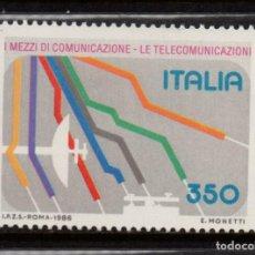 Sellos: ITALIA 1710** - AÑO 1986 - MEDIOS DE COMUNICACIÓN Y TELECOMUNICACION. Lote 195309872