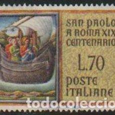 Timbres: ITALIA 1961 SCOTT 837 SELLO º CENTENARIO LLEGADA SAN PABLO A ROMA NAVEGANDO MICHEL 1105 YVERT 850. Lote 195899660