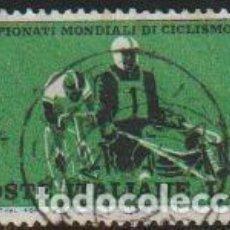 Timbres: ITALIA 1962 SCOTT 857 SELLO º DEPORTES CAMPEONATO MUNDIAL DE CICLISMO PERSECUCION MICHEL 1126. Lote 195904005