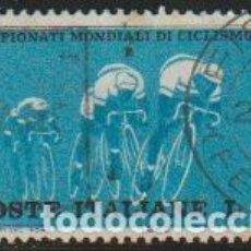 Timbres: ITALIA 1962 SCOTT 858 SELLO º DEPORTES CAMPEONATO MUNDIAL DE CICLISMO EN RUTA MICHEL 1127 YVERT 869. Lote 195904271
