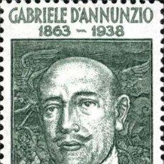 Timbres: ITALIA 1963 SCOTT 870 SELLO ** RETRATO DE GABRIELE D'ANNUNZIO MICHEL 1139 YVERT 883 ITALY STAMPS. Lote 195905438