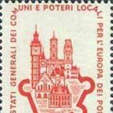 Timbres: ITALIA 1964 SCOTT 898 SELLO ** CONGRESO EUROPEO DE CIUDADES WALLED CITY MICHEL 1168 YVERT 911 ITALY. Lote 195908071
