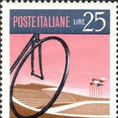 Timbres: ITALIA 1968 SCOTT 987 SELLO ** CAMPEONATO MUNDIAL CICLISMO BICICLETA Y VELODROMO ROMA MICHEL 1278. Lote 195980476