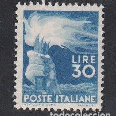 Sellos: ITALIA, 1945-48 YVERT Nº 501 /**/, MANO SOSTENIENDO UNA ANTORCHA, VALOR CLAVE. Lote 196260408
