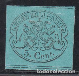 ESTADOS DE LA IGLESIA, 1867 YVERT Nº 14 /*/ (Sellos - Extranjero - Europa - Italia)