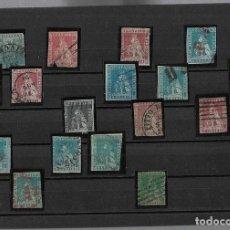 Sellos: FICHA CON 17 SELLOS CLASICOS. TOSCANA. ITALIA. 1851 / 1852. VER FOTOS. Lote 196957857