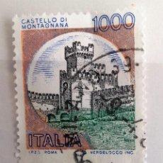 Sellos: ITALIA, SELLO CASTILLO USADO. Lote 196979178