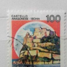 Sellos: ITALIA, SELLO CASTILLO USADO. Lote 196979261