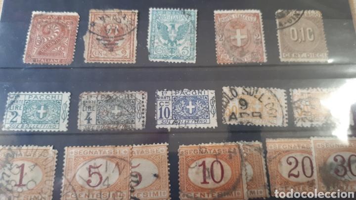 SELLOS USADOS DE ITALIA AÑOS 1865 , 1870 , 1890 Y 1914 C120 (Sellos - Extranjero - Europa - Italia)