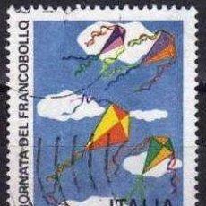 Timbres: ITALIA 1977 SCOTT 1282 SELLO º DIA DEL SELLO DIBUJOS DE NIÑOS COMETAS AQUILONE MICHEL 1588 YV. 1320. Lote 197603358