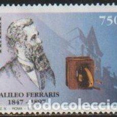 Timbres: ITALIA 1997 SCOTT 2127 SELLO * CENT. MUERTE DE GALILEO FERRARIS (1847-97) RETRATO Y MOTOR DE CAMPO. Lote 48828901