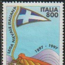 Timbres: ITALIA 1997 SCOTT 2154 SELLO º CENT. FUNDACIÓN DE LA LIGA NAVAL ITALIANA BARCA Y BANDERA MICHEL 2511. Lote 48828941