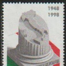 Timbres: ITALIA 1998 SCOTT 2190 SELLO * ANIV. CONSTITUCION ITALIANA TRICOLOR Y PERFIL DE ITALIA EN COLUMNA. Lote 48829093