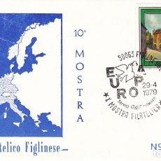 Sellos: SOBRE: 1979 FIGLINE. 10ª MOSTRA - CIRCOLO FILATELICO FIGLINENSE. Lote 198613375