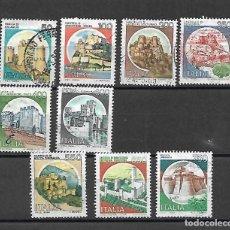 Sellos: CASTILLOS. ITALIA . SELLOS DE LOS AÑOS 1980/90. Lote 199245288
