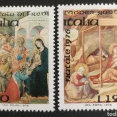 Sellos: ITALIA N°1287/88 MNH, NAVIDAD 1976 (FOTOGRAFÍA REAL). Lote 223549662