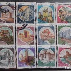 Sellos: CASTILLOS DE ITALIA 18 SELLOS USADOS DIFERENTES. Lote 201118473